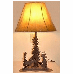 Rustic Triangle Base Table Lamp - Choice of Design