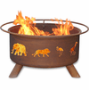 Safari Animals Design Fire Pit - Wild Animals Cut Out Fire Pit
