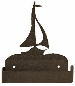 Sailboat One Piece Toilet Paper Holder