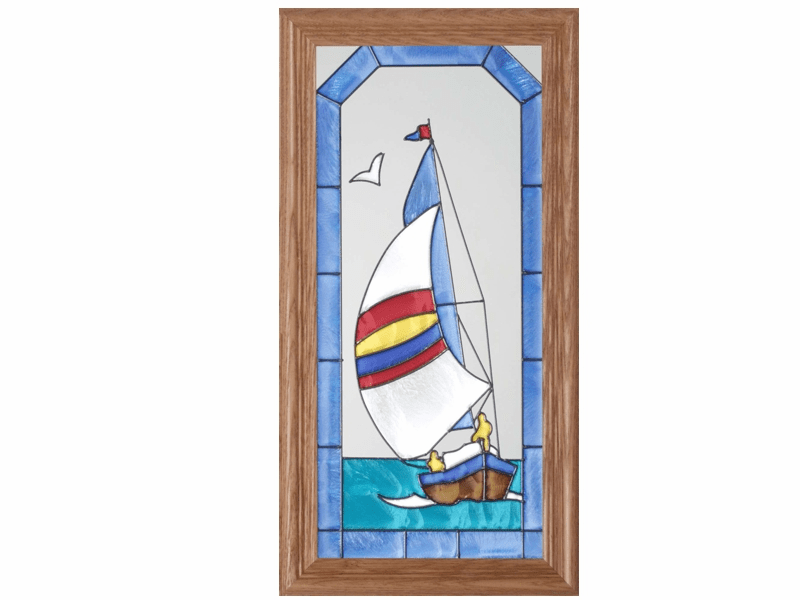 Sailboat Stained Glass Art Glass