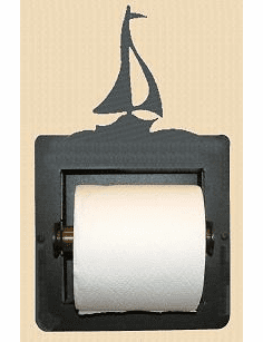 Sailboat Toilet Paper Holder (Recessed)
