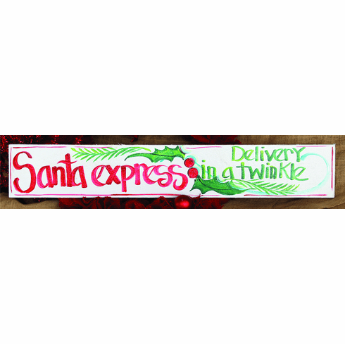 Santa Express, Delivery in A Twinkle Merry Christmas Sign, 32in x 6in