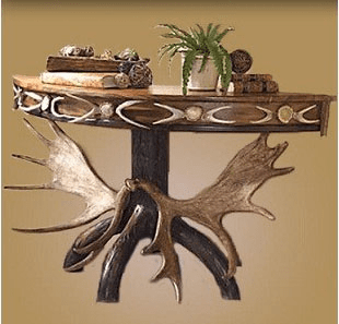Scalloped Moose Console Table