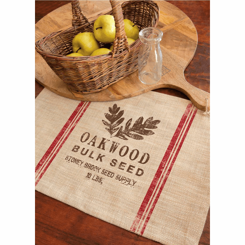 Seed Labels Oakwood Placemat, set of 4