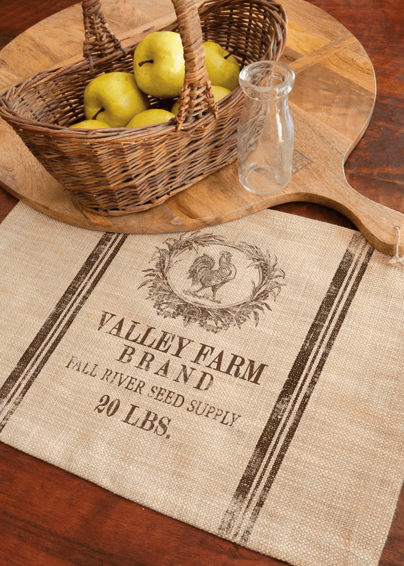 Seed Labels Valley Farm Placemat, set of 4