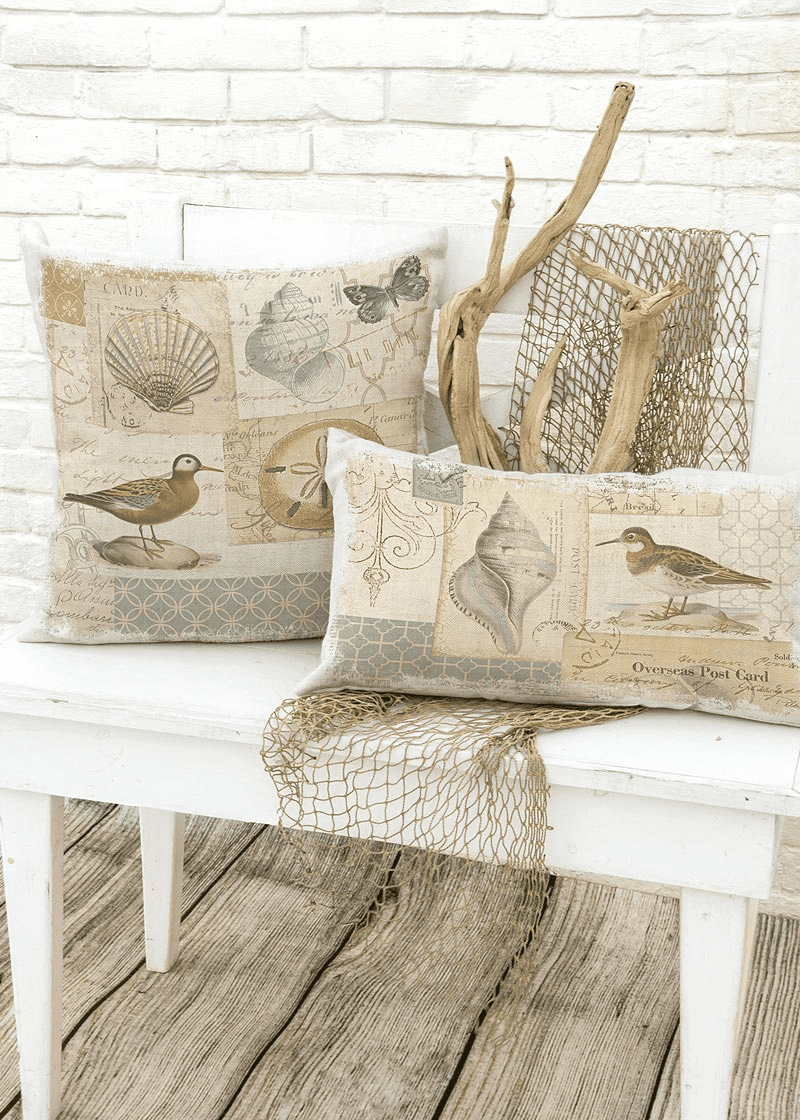 Shorebirds Large Pillow