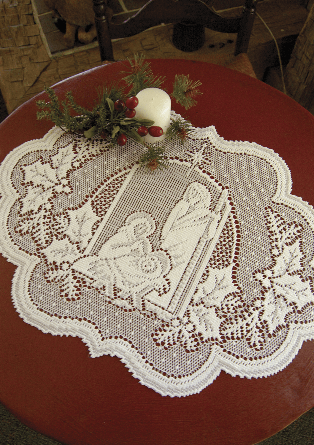 Silent Night Table Topper