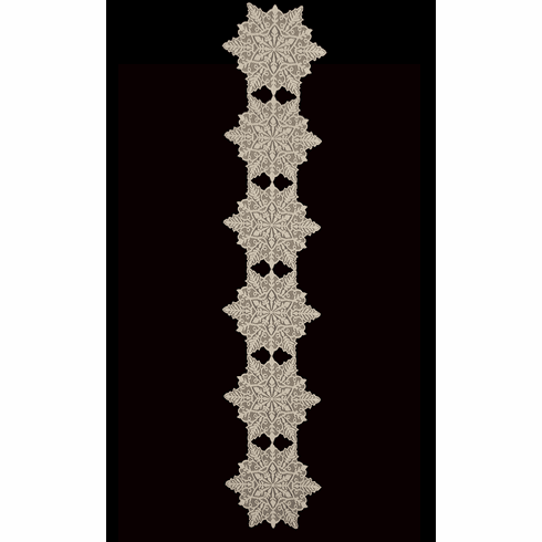 Silver Snowflake Extra Large Runner