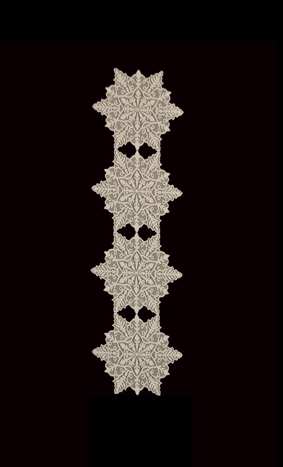 Silver Snowflake Medium Runner