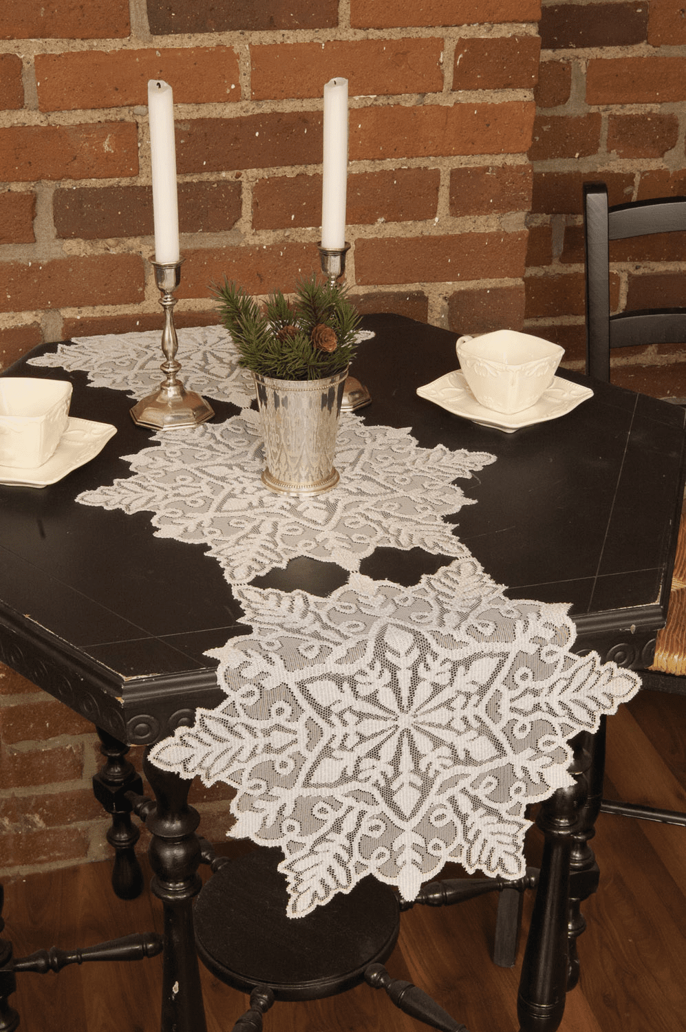 Silver Snowflake Small Runner