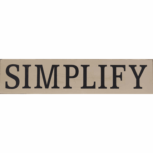 Simplify Sign