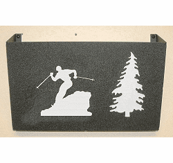 Skier Wall Mount Magazine Rack