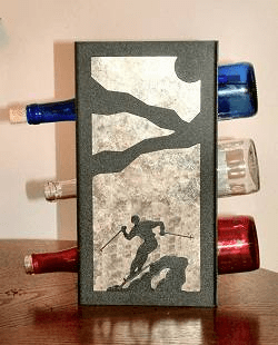 Skier Wine Bottle Rack