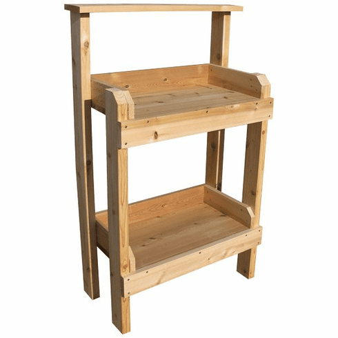 Small Cedar Potting Table, 30 inch wide