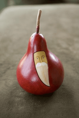 Small Red Santa, Gourd Style