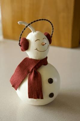 Small Snowman, Gourd Style