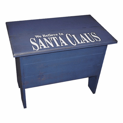 Small Storage Bench with Lettering