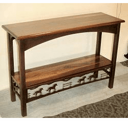 Sofa Table - Horse Design w/Bottom Shelf