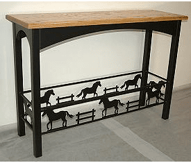 Sofa Table - Rod Style Table with Horse Design