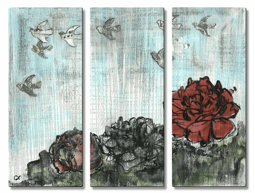 Songbirds Fly South Metal Wall Art