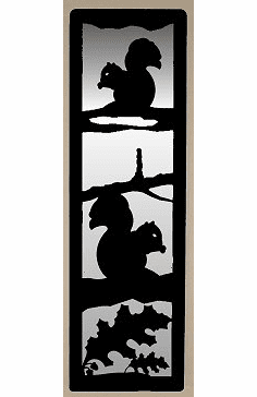 Squirrel and Oak Leaf Large Accent Mirror Wall Art