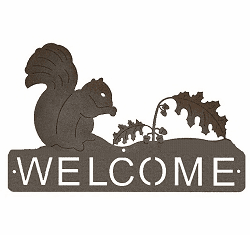 Squirrel Horizontal Welcome Sign