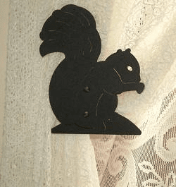 Squirrel Swag Holder Pair