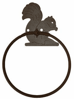 Squirrel Towel Ring