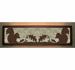 Squirrel Valance Style Bath Vanity Light
