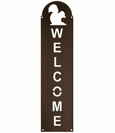 Squirrel Vertical Welcome Sign in 2 Sizes