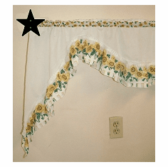 Star Curtain Rod Holder Pair