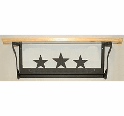 Star Rustic Towel Bar with Shelf
