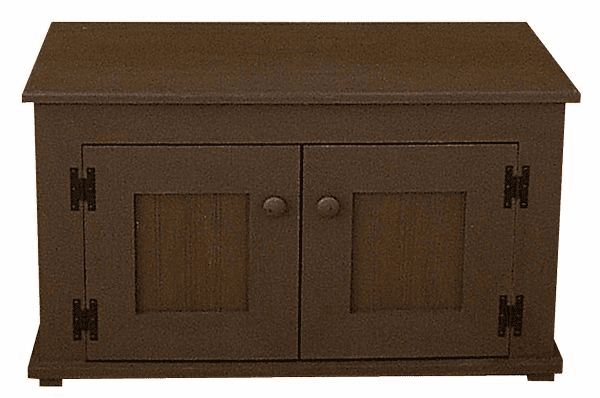 Storage Bench with Doors, 36 inch wide
