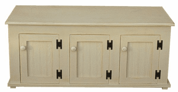 Storage Bench with Doors, 48 inch wide