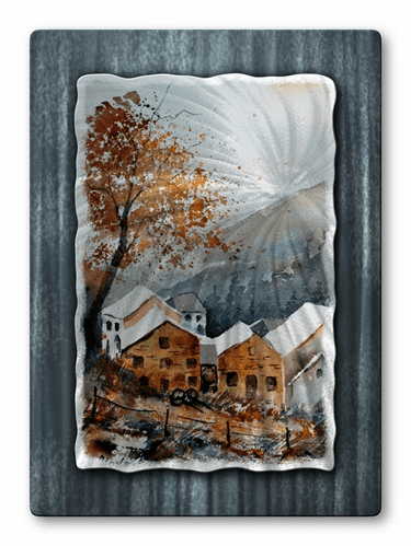 Sun from the Mountains Metal Wall Art