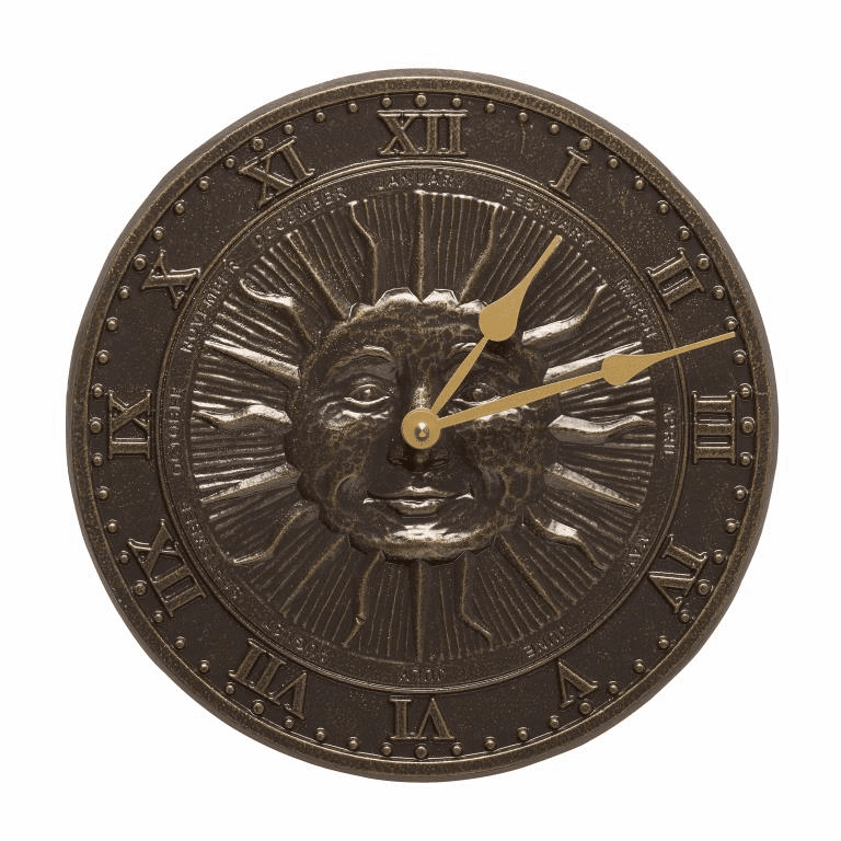 Sunface Clock - French Bronze