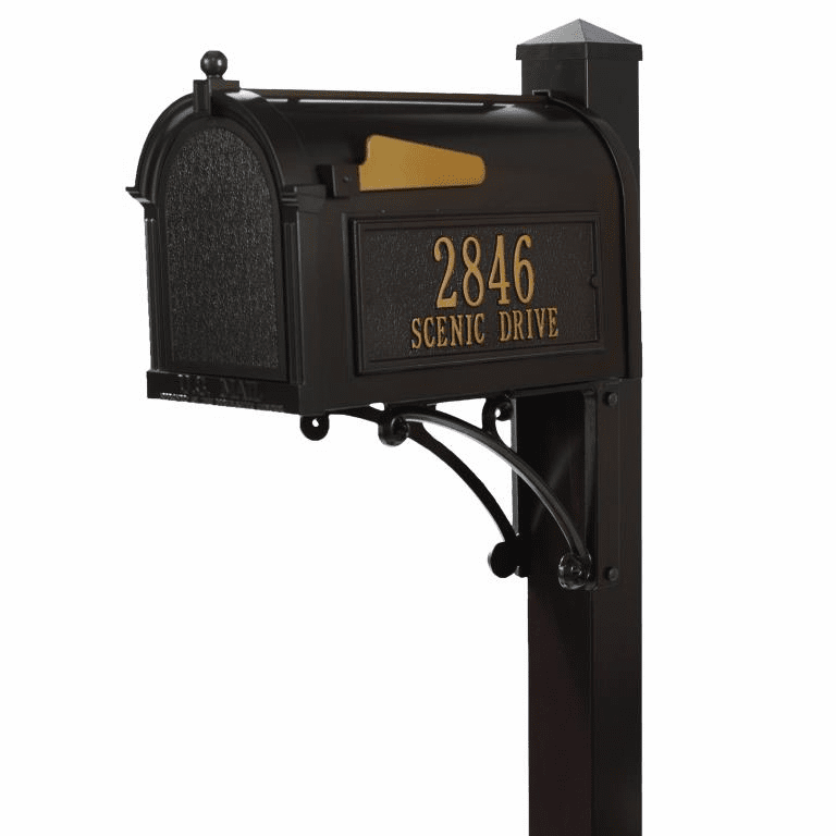 Superior Mailbox Package in Bronze