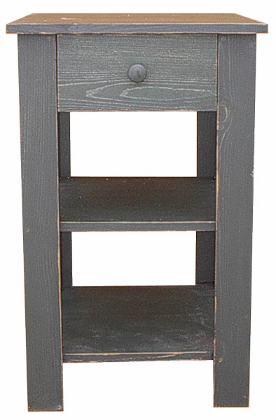 Tall End Table with Drawer, 20 inch wide