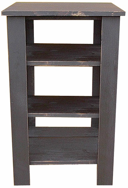 Tall End Table with Shelves, 20 inch wide