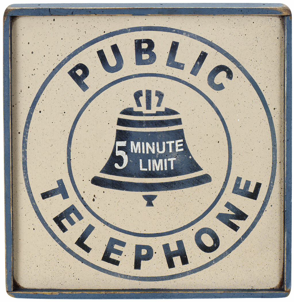 Telephone Sign - Public Telephone