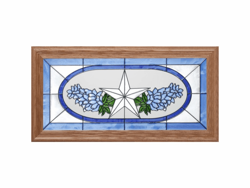 Texas Bluebonnets Stained Glass Art Glass