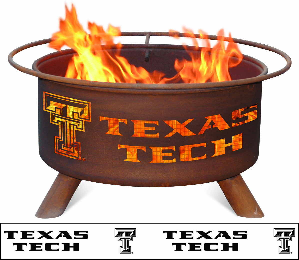 Texas Tech Red Raiders Logo Fire Pit