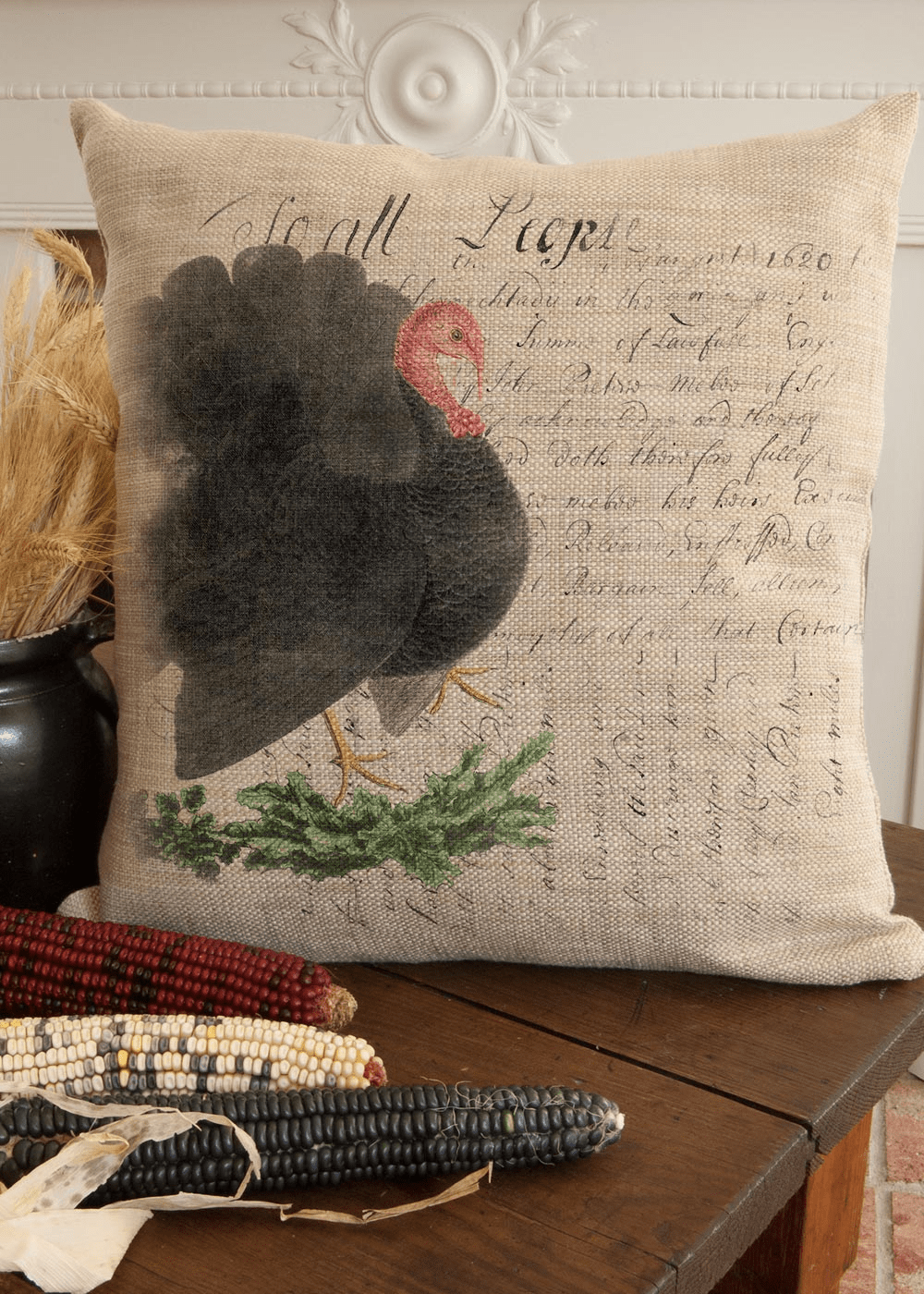 Thanksgiving Turkey Large Pillow