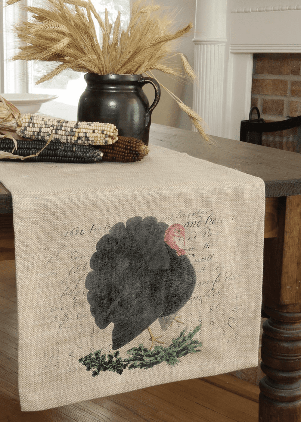 Thanksgiving Turkey Large Table Runner
