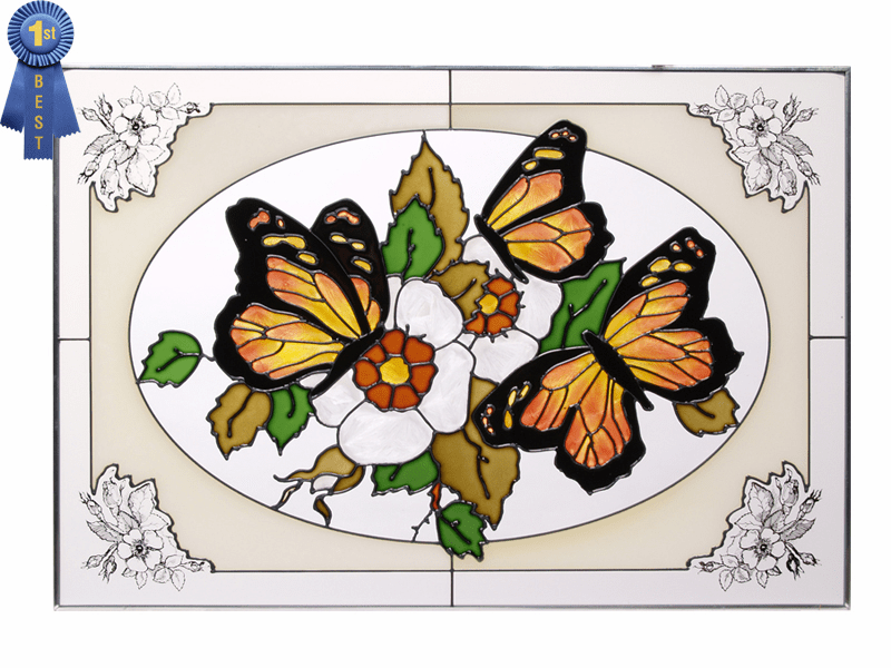 The Beauty of Butterflies I Stained Glass Art Glass