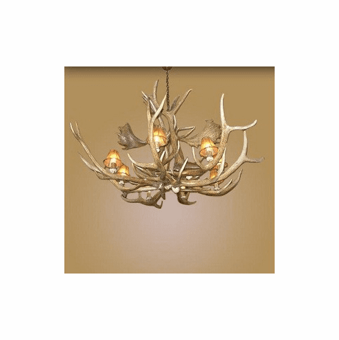 """The Bullwinkle"" Elk and Fallow Deer Chandelier"