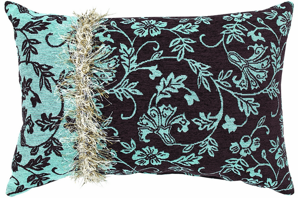 The Chocolate Blues Tapestry Reversible Rectangle Pillow