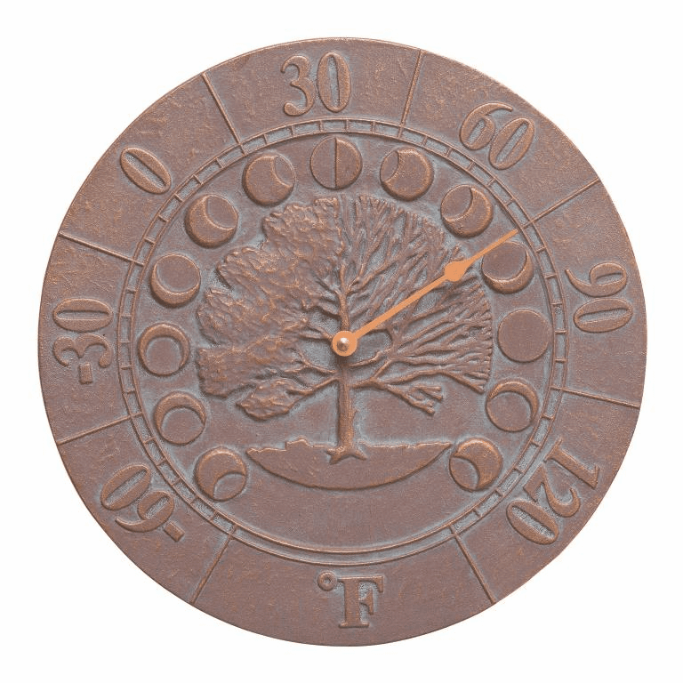 Times And Seasons Thermometer - Copper Verdigris