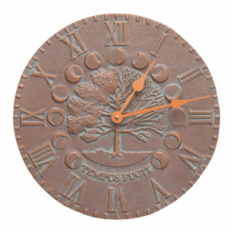 Times & Seasons Clock - Copper Verdigris