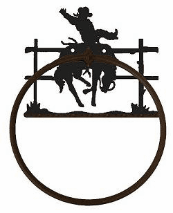 Towel Ring-Bucking Bronco Design